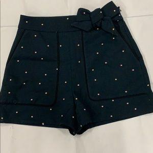 Zara Basic Polka Dot High Waisted Shorts